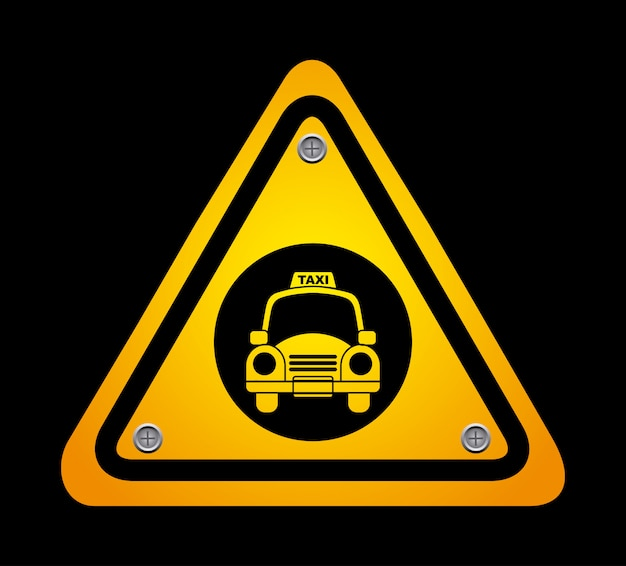 Design gráfico de táxi