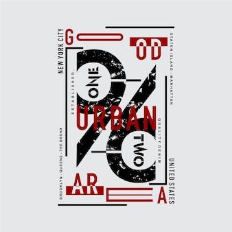 Design gráfico de tipografia urbana da cidade de nova york