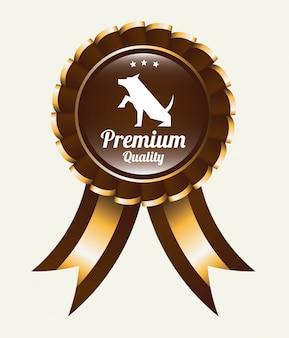 Design gráfico de vencedor de medalha de estimação