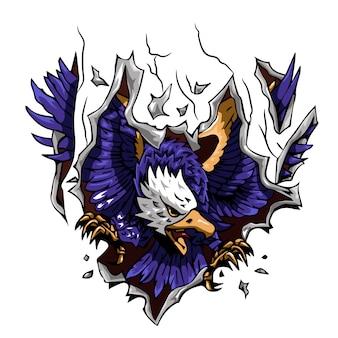 Design gráfico de vetor de águia