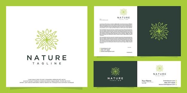 Design gráfico de vetor de logotipo de flor