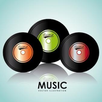 Design gráfico de vinil de música