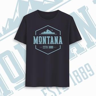 Design gráfico do t-shirt do estado de montana, tipografia, impressão. ilustração vetorial.