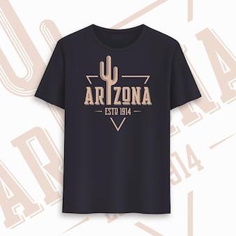 Design gráfico do t-shirt do estado do arizona, tipografia, impressão. ilustração vetorial.