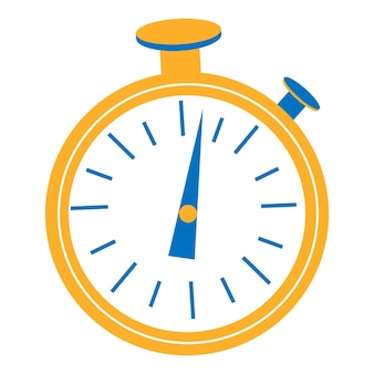 Design gráfico do temporizador de relógio. comece, termine. gerenciamento de tempo. ícone de vetor de cronômetro isolado no fundo branco.