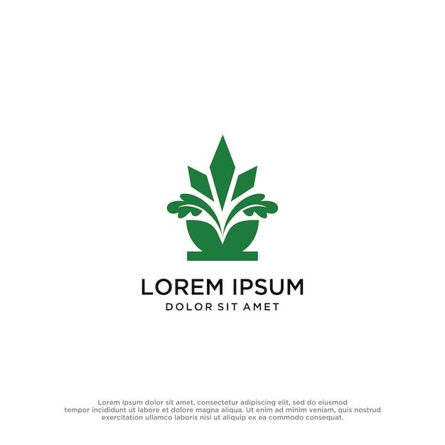 Design gráfico do vetor do logotipo da natureza