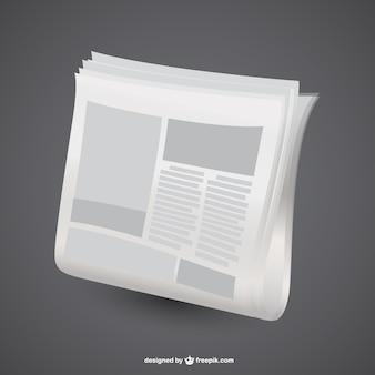 Design gráfico jornal vetor