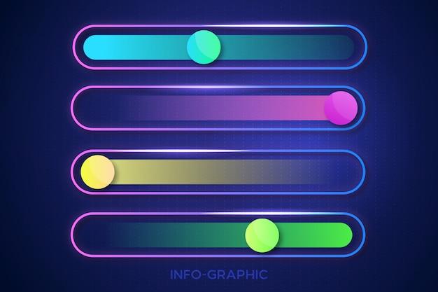 Design gráfico moderno modelo de informação