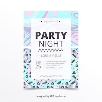 Design holográfico de cartaz de festa