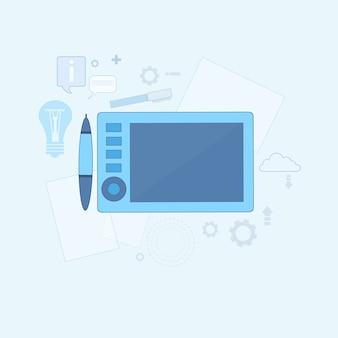 Design idea designer gráfico ícone de desenho ilustração em vetor linha fina web