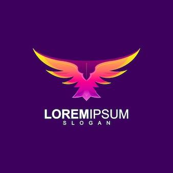 Design impressionante de logotipo de águia