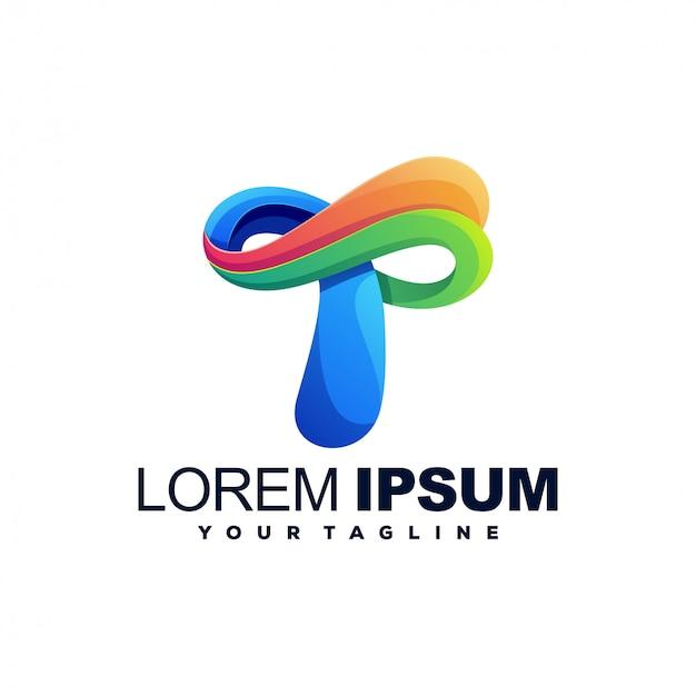 Design impressionante do logotipo da cor t