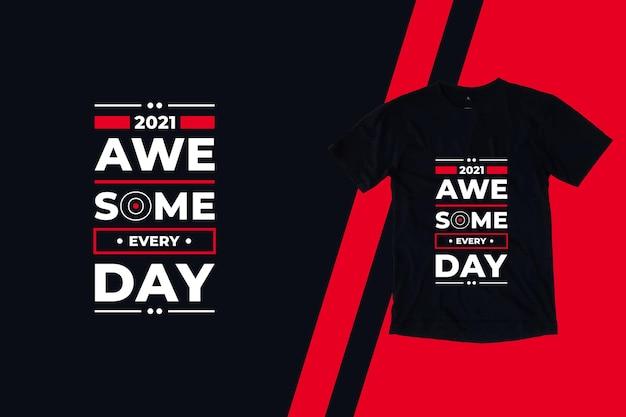 Design incrível de camisetas modernas com citações