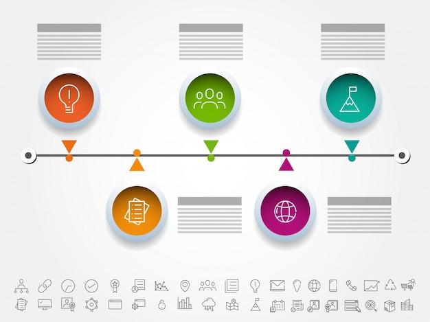 Design infográfico colorido