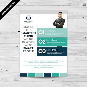Design infográfico de folheto de negócios