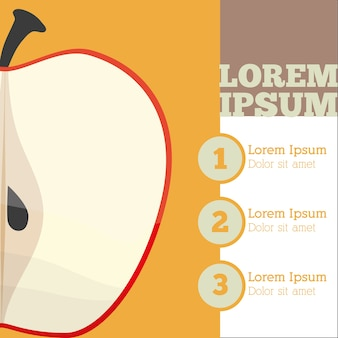 Design infrográfico de frutas de maçã