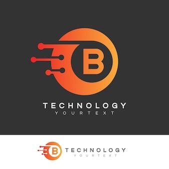 Design inicial do logotipo da letra b da tecnologia