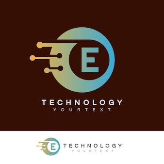 Design inicial do logotipo da letra e da tecnologia