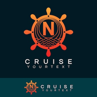 Design inicial do logotipo da letra n do cruzeiro
