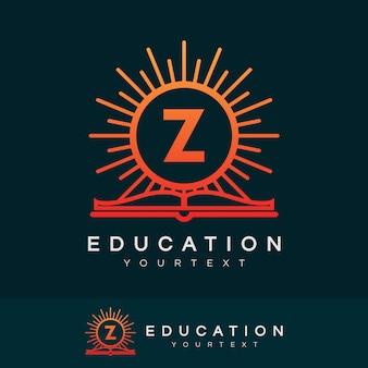 Design inicial do logotipo da letra z da educação