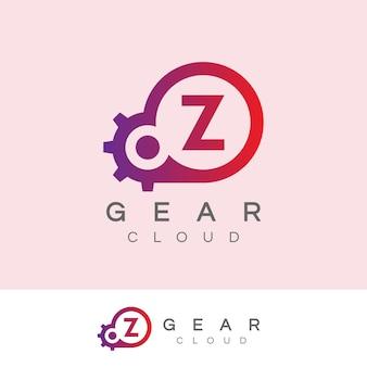 Design inicial do logotipo da letra z da tecnologia cloud