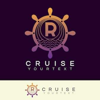 Design inicial do logotipo letter r logo