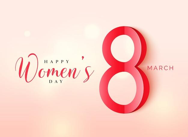 Design internacional de cartazes do dia das mulheres em estilo origami com fundo bonito