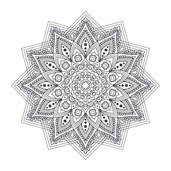 Design intrincado mandala