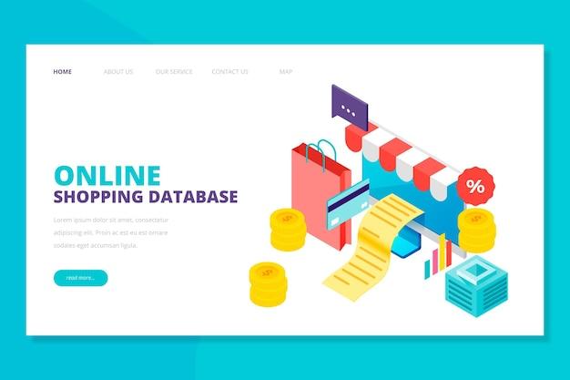 Design isométrico, compras on-line