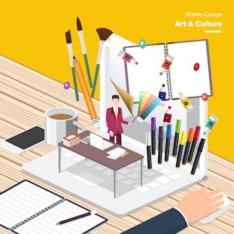Design isométrico de educação