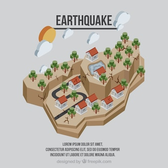 Design isométrico de terremoto plano
