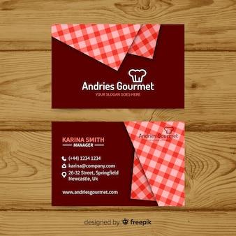 Design lindo cartão de visita