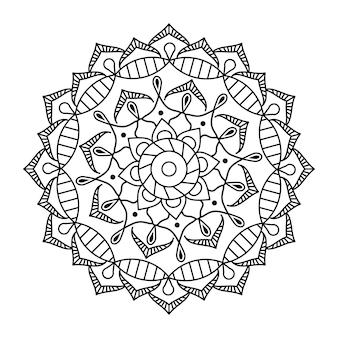 Design linear de mandala de vetor