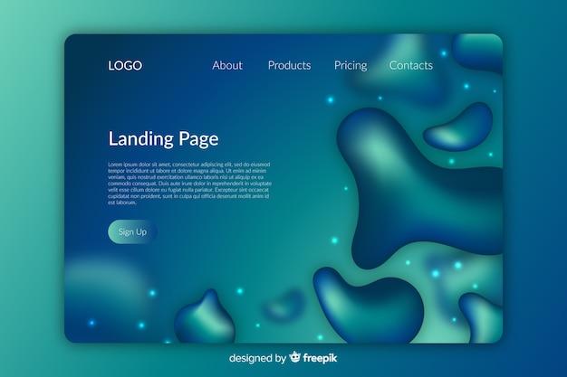 Design líquido de página de destino
