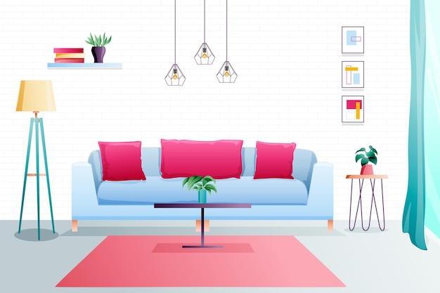 Design luxuoso de fundo interior de casa