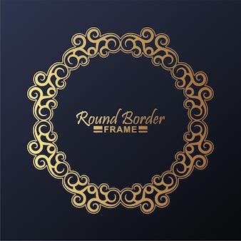 Design luxuoso de moldura de borda redonda