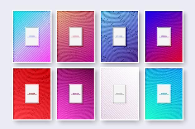 Design minimalista da capa moderna com linha geométrica abstrata