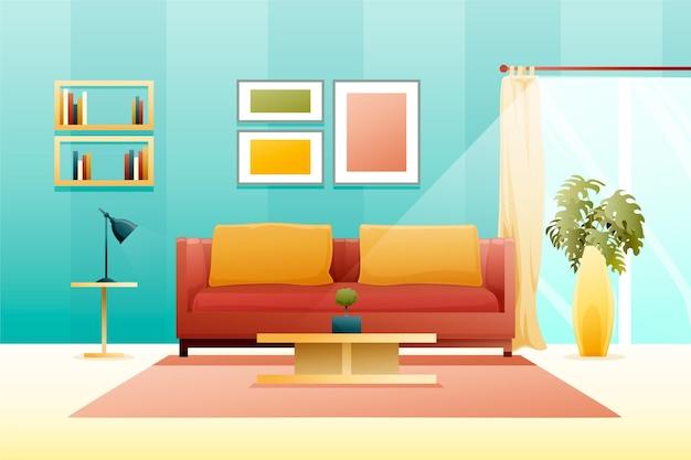 Design minimalista de fundo interior de casa