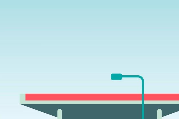Design minimalista de iluminação pública