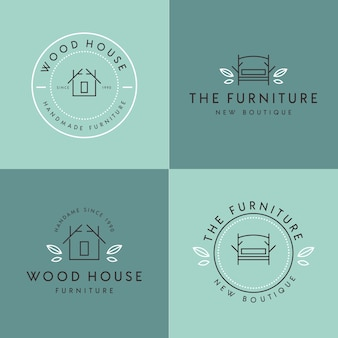 Design minimalista de logotipo de móveis