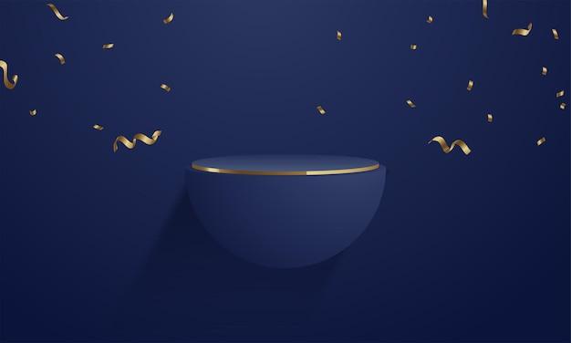 Design minimalista de maquete de exibição de produto