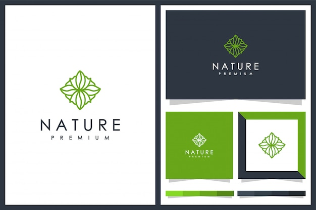 Design minimalista de natureza de logotipo