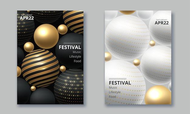 Design minimalista de pôster para festival de música eletrônica