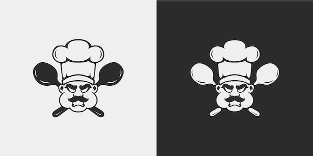 Design minimalista do chef zangado