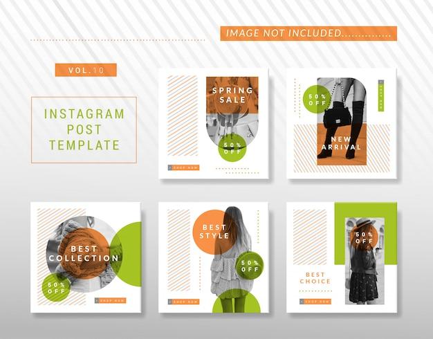 Design minimalista do instagram ou da mídia social