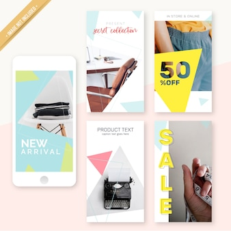 Design minimalista do instagram stories