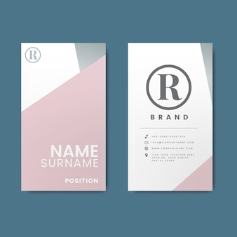 Design minimalista moderno cartão de visita com elementos geométricos