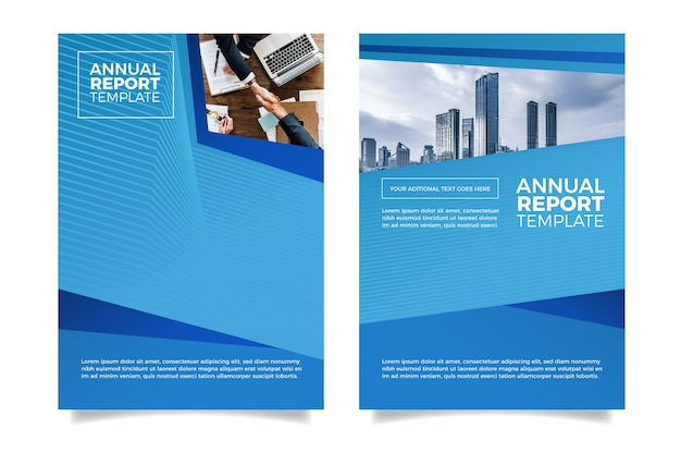 Design minimalista moderno de relatório anual