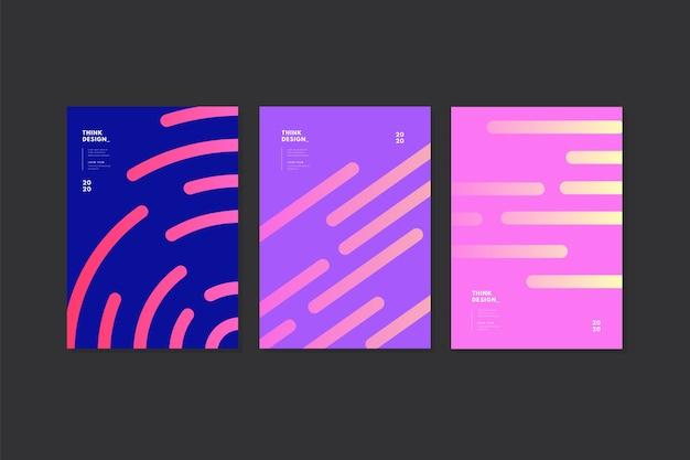 Design mínimo de capas com linhas