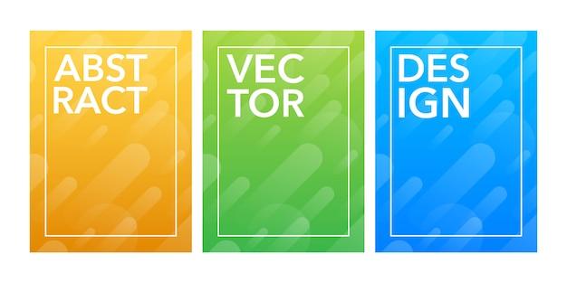 Design mínimo de capas. gradientes de meio-tom colorido